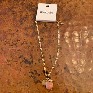 NWT Madewell Shell Charm Necklace